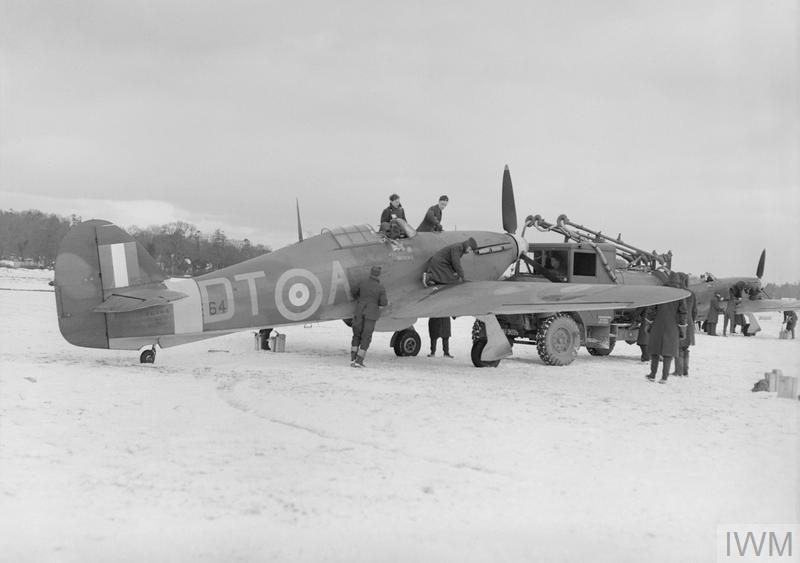 3 January 1941 worldwartwo.filminspector.com RAF No. 257 Squadron Hurricane Mk. I