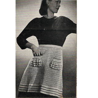 Crocheted Apron Pattern, Pockets