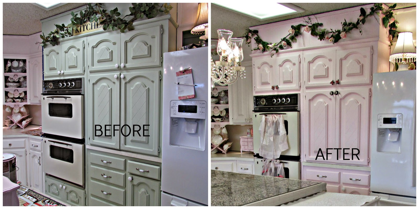 Pink Kitchen Paint Penny S Vintage Home Pink Kitchen Cabinets