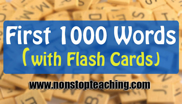 First 1000 Words with Flash Cards