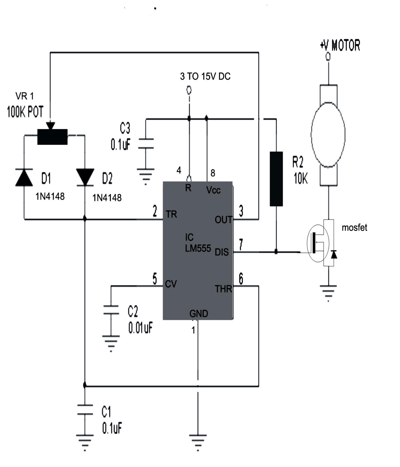 Make this PWM Based DC Motor Speed Controller Circuit