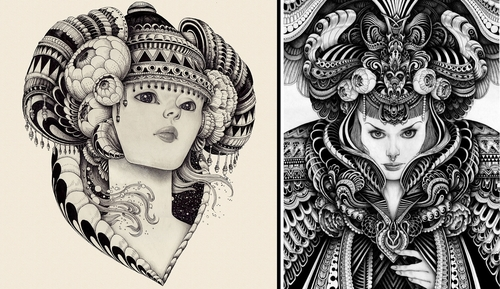 00-Iain-Macarthur-Pencil-Watercolours-and-Pens-in-Complex-Ink-Portraits-www-designstack-co