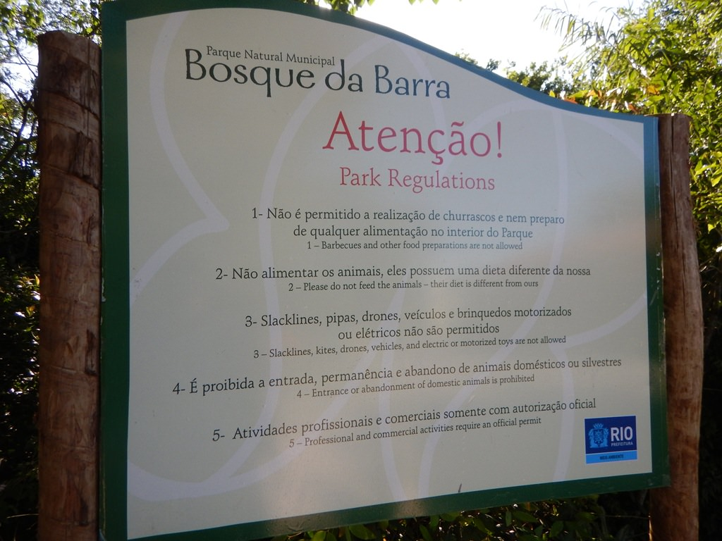 Regras do Bosque da Barra