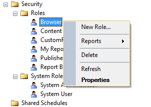Create Custom Role in SSRS (SQL Server Reporting Server
