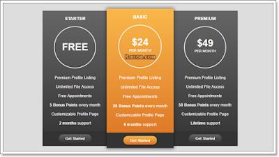 Cara membuat Tabel Harga Barang atau Jasa di Blogger (Pricing Table)