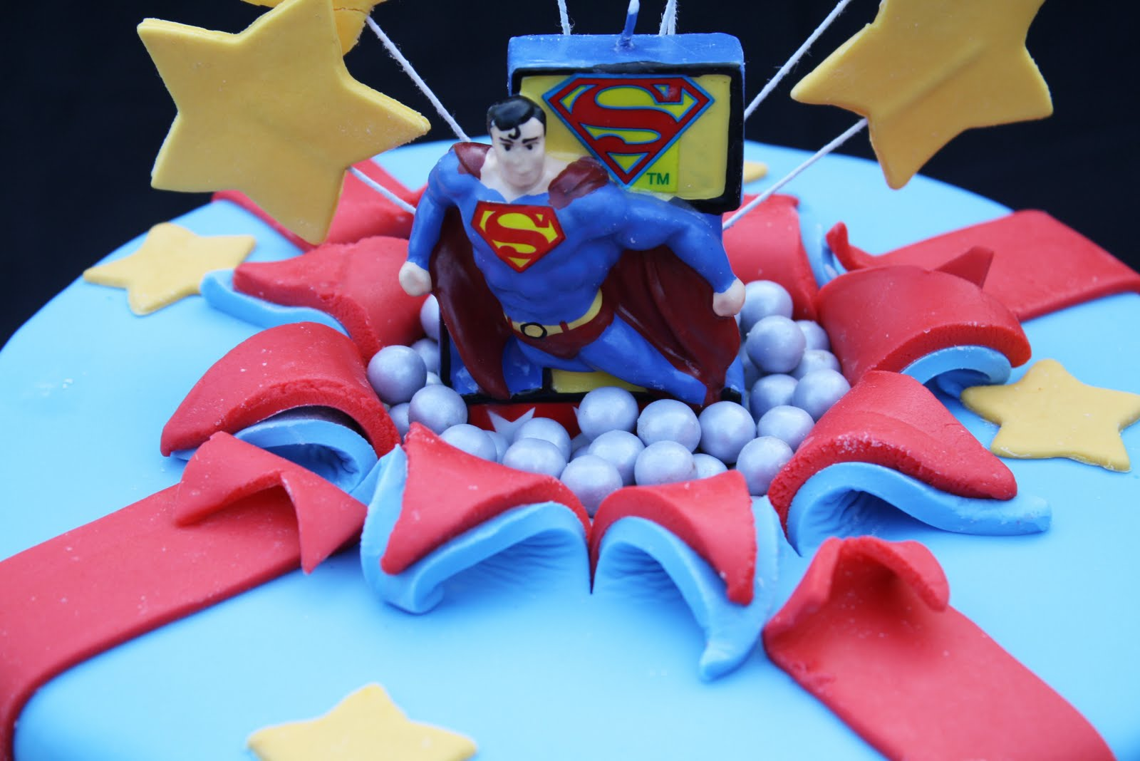 Superman Birthday Cake Candle