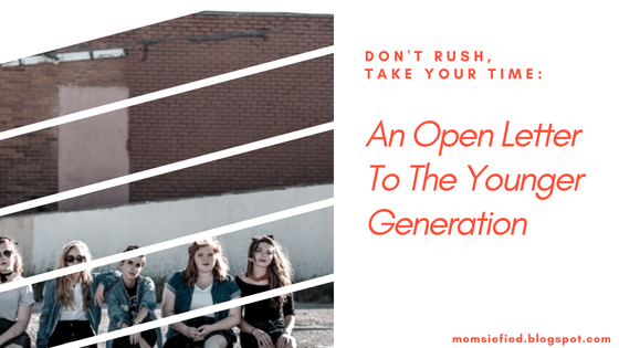 Open letter to young ones teens