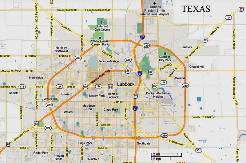 map to lubbock