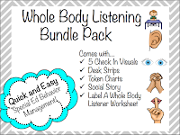 https://www.teacherspayteachers.com/Product/Whole-Body-Listening-Visuals-Token-Chart-Social-Story-Desk-Strips-Worksheet-1620648
