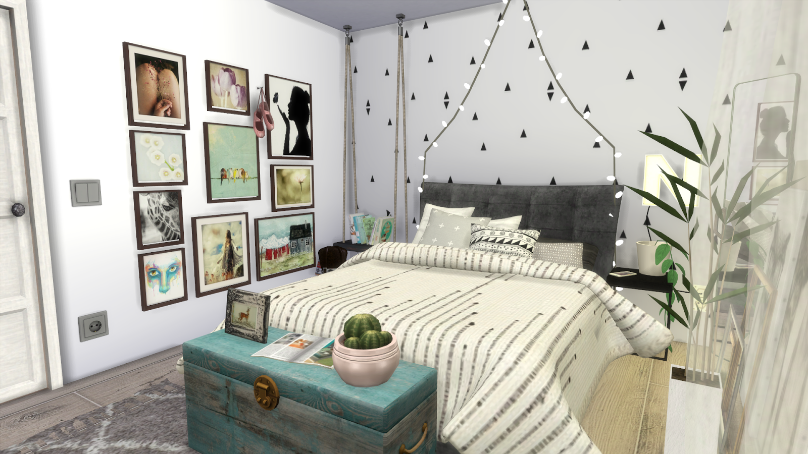 Sims 4 tumblr bedroom ii download cc creators links for Sims 3 6 bedroom house