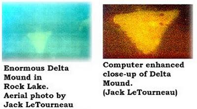 sonar scan of rock lake pyramids