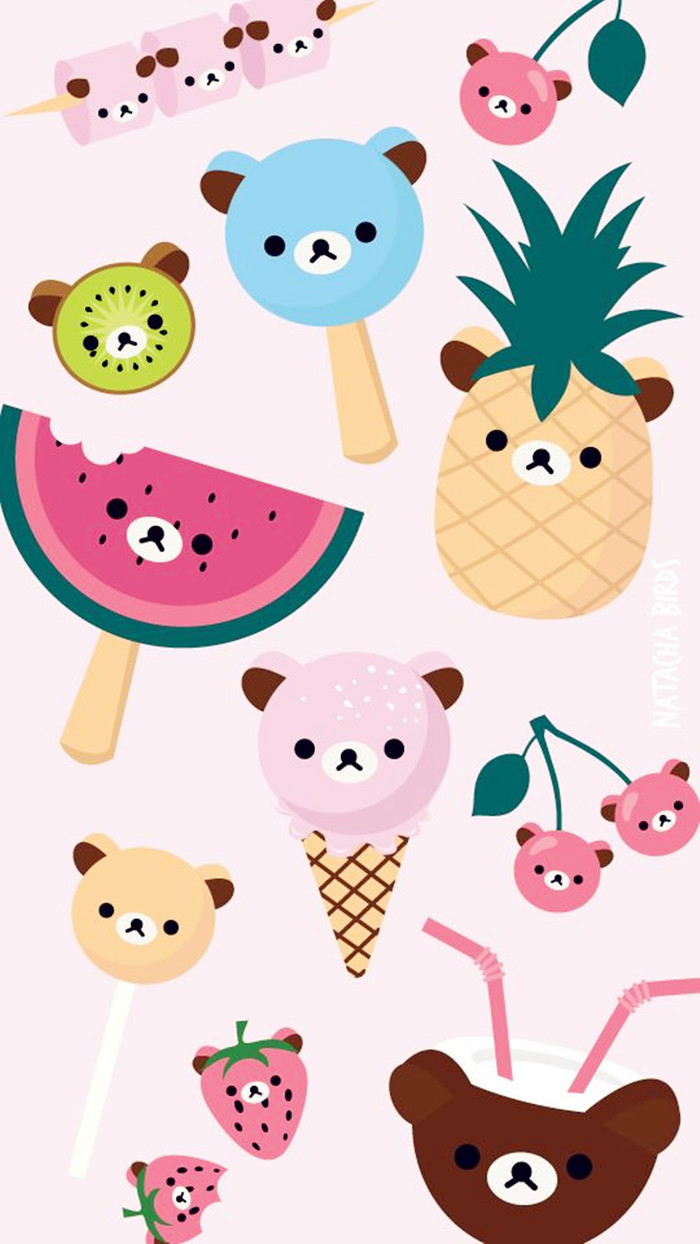 Rilakkuma bear collection picfish - Kawaii food wallpaper ...
