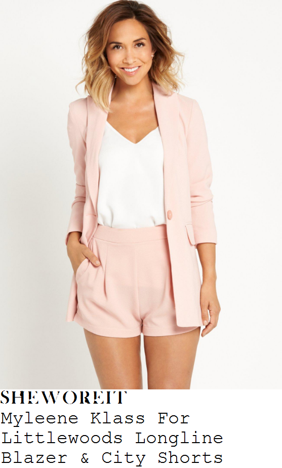 myleene-klass-myleene-klass-for-littlewoods-pale-pink-blazer-and-city-shorts-short-suit-co-ords