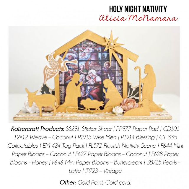 Kaisercraft Holy Night Nativity Scene by Alicia McNamara