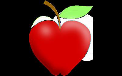clipart buah apel merah