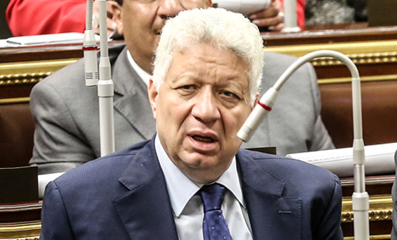 مرتضي منصور يبحث ناخبى دائرته وزملائه عنه فى البرلمان