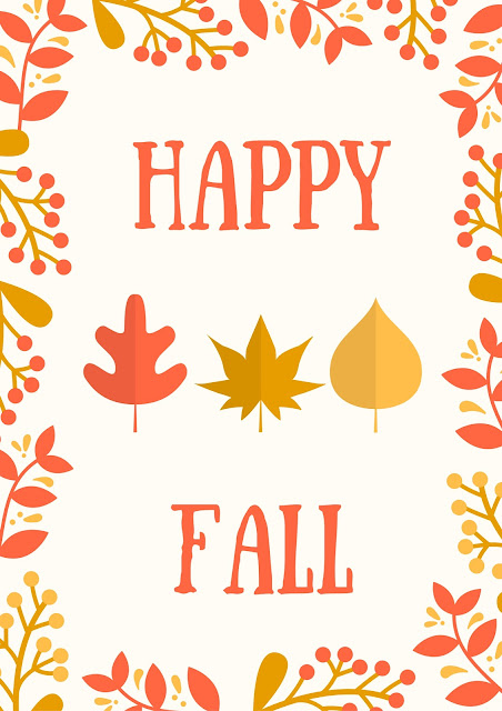 Happy Fall free printables