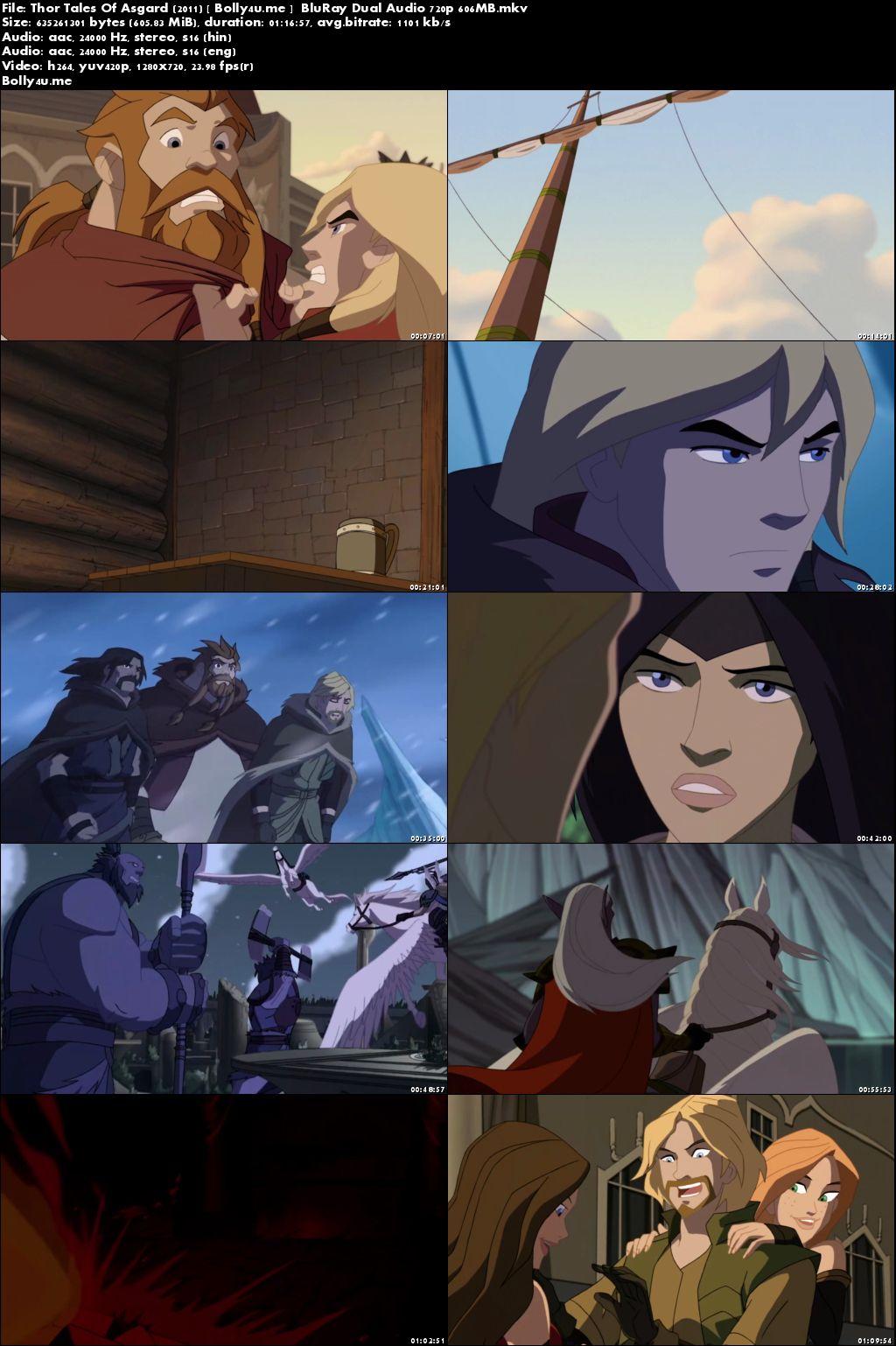Thor Tales Of Asgard 2011 BluRay 600MB Hindi Dual Audio 720p Download