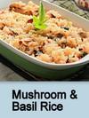 Mushroom & Basil Rice