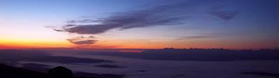 Panorama z Babiej Góry w kierunku południowo-wschodnim.