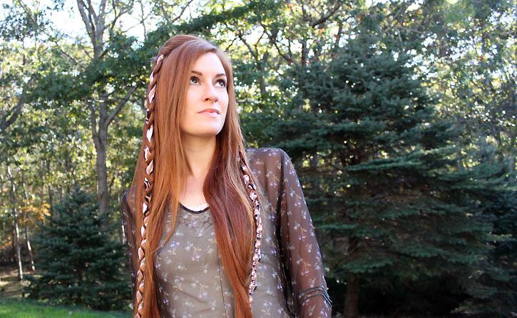 braided ribbon headband tutorial - Gina Michele