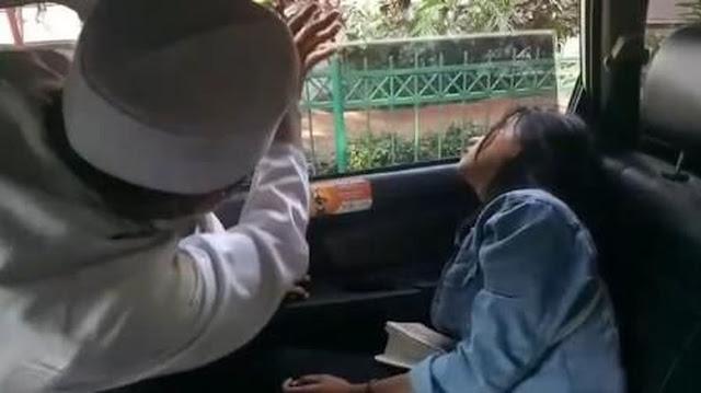 Viral Video Driver Taksi Online Ruqyah Penumpang Kesurupan