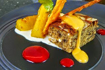 Resep Palm Sugar Ice Cream and Stewed Pineapple