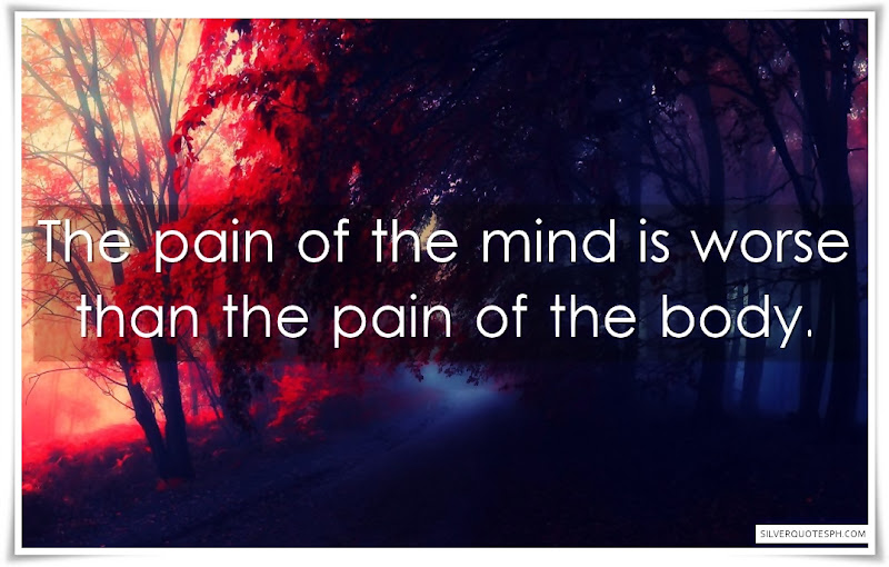 The Pain Of The Mind