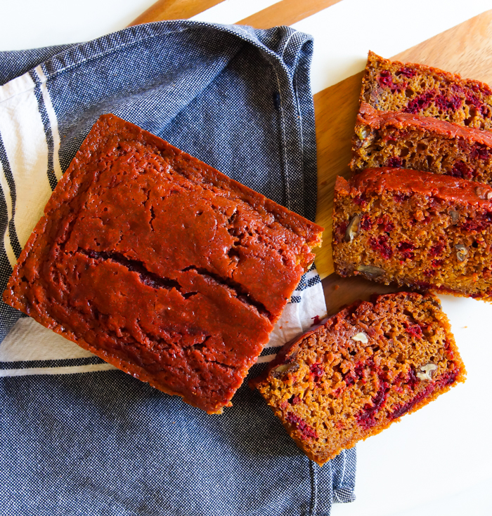 Beets & Turmeric Quick Bread ♥ bakeat350.net