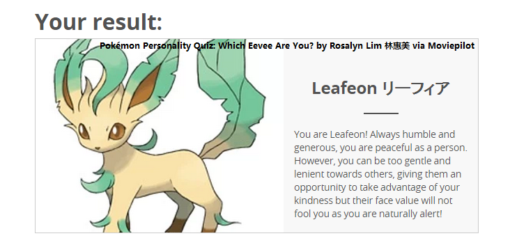 rosalyns blog pok233mon personality quiz which eevee are you