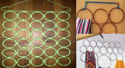 Cara mudah dan murah membuat gantungan jilbab ring