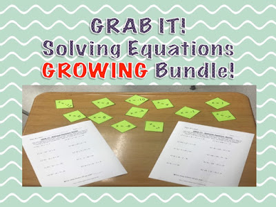 https://www.teacherspayteachers.com/Product/GRAB-IT-Solving-Equations-Game-GROWING-BUNDLE-4252156