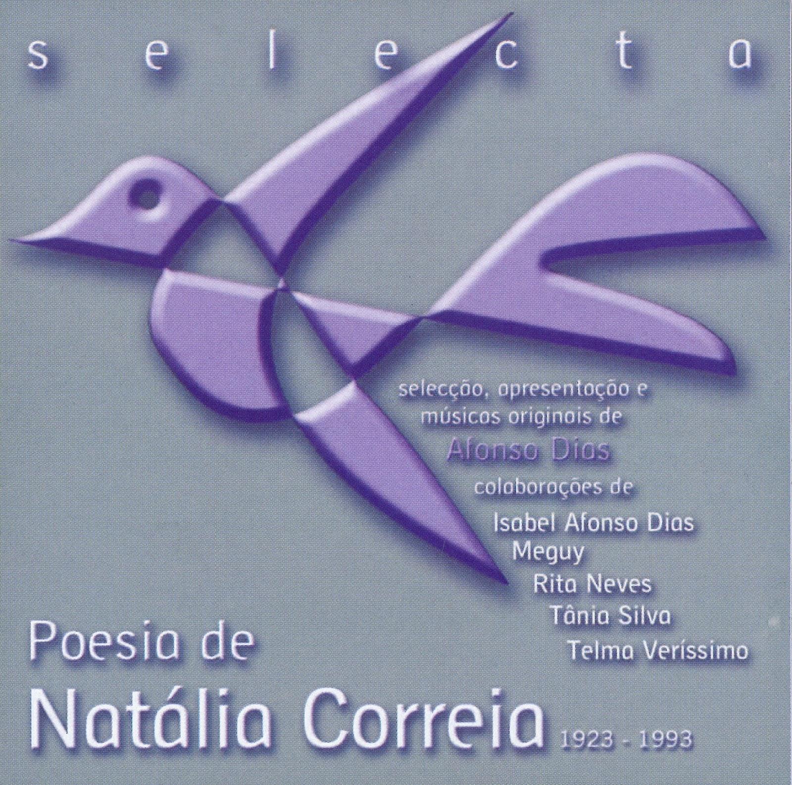 """c461096a4 Capa do CD """"Poesia de Natália Correia"""" (Música XXI, 2007) 40 poemas  ditos/cantados por Afonso Dias, Isabel Afonso Dias, Meguy, Rita Neves,  Tânia Silva e ..."""