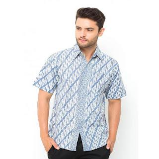 Jual Model Baju Batik Pria Kombinasi
