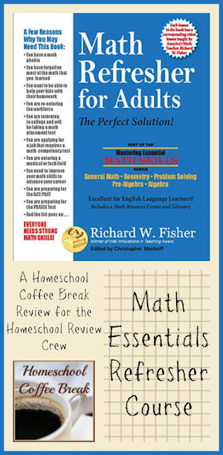Math Essentials Refresher Course - A Homeschool Coffee Break Review on Homeschool Coffee Break @ kympossibleblog.blogspot.com