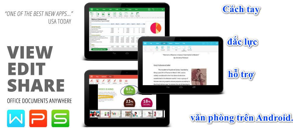 WPS Office - Word, Docs, PDF, Note, Slide & Sheet 10.9 APK Full, Cách tay đắc lực hỗ trợ văn phòng trên Android.