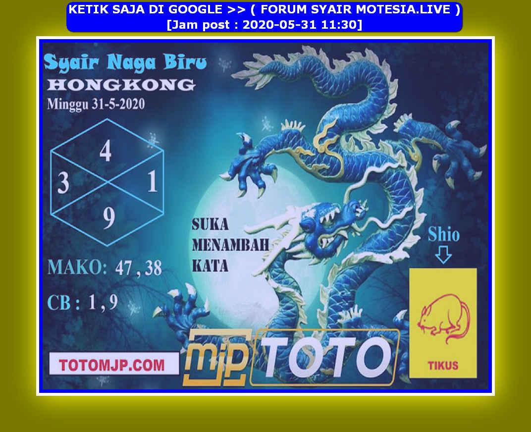 Kode syair Hongkong Minggu 31 Mei 2020 244