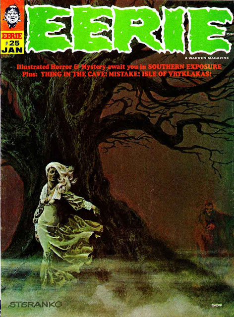 Eerie magazine #25, 1970 - Jim Steranko cover art