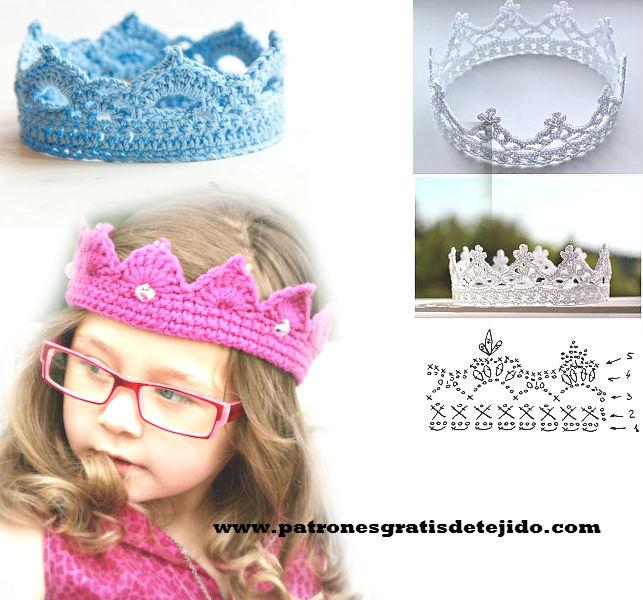 Cómo hacer una corona para princesa a crochet / DIY tutorial ...