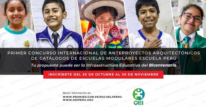 PRONIED: Más de 70 inscritos en concurso internacional para el diseño de las Escuelas Bicentenario - www.pronied.gob.pe