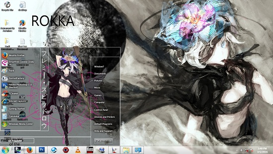Theme Window 7 Rokka No Yuusha [Flamy Speeddraw] By AoAnime 1