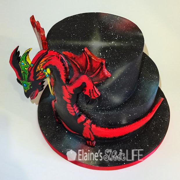 Elaine' Sweet Life Yu-gi- Cake - Harpie' Pet Dragon