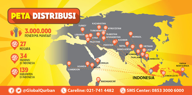 peta distribusi act global qurban