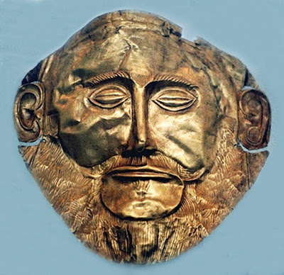 """Mask of Agamemnon"" - made in Gold, circa 1550-1500 BC"
