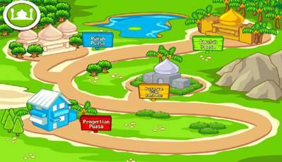Aplikasi Android untuk Belajar Puasa Anak tampilan animasi kartun lucu menarik