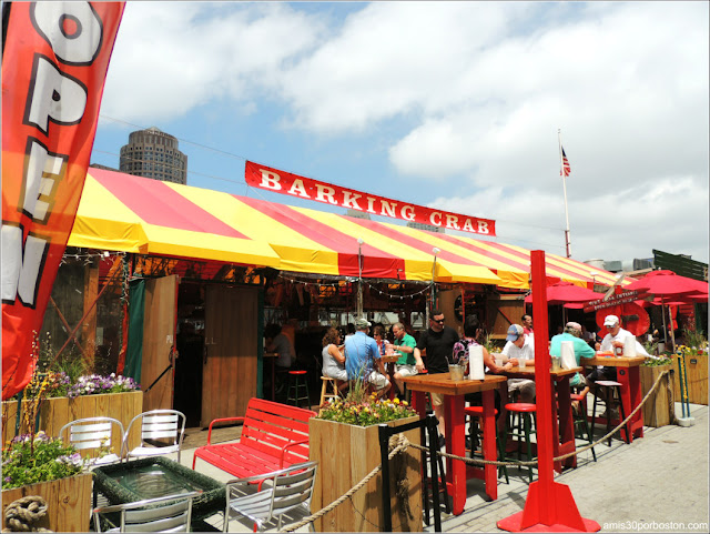 Terraza del The Barking Crab en Boston