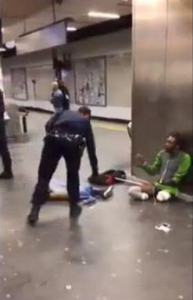3 french police officers abuse Francois Bayga a disabled black man in Paris