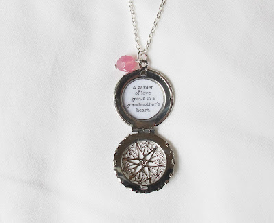 image grandmother locket necklace quote jewellery jewelry two cheeky monkeys handmade for her