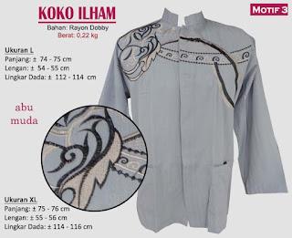 Koko model bordir tangan panjang 1 warna - ilham 3