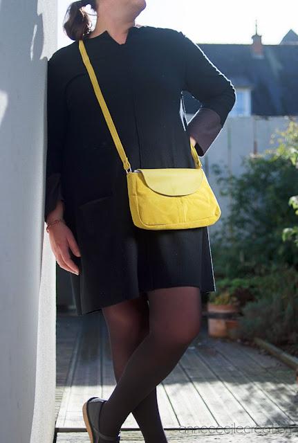 sac à main jaune cuir